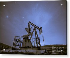 Oil Rig And Stars Acrylic Print