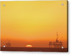 Oil Rig Acrylic Print by Eric Lo