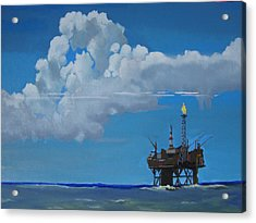 Oil Rig Near The Shetland Islands Acrylic Print