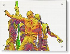 Oil Rig Workers 5 Acrylic Print by Steve Ohlsen