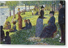 Oil Sketch For La Grande Jatte Acrylic Print
