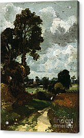 Oil Sketch Of Stoke-by-nayland Acrylic Print by John Constable
