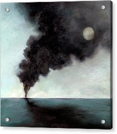 Oil Spill 3 Acrylic Print by Katherine DuBose Fuerst
