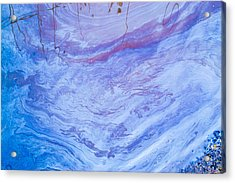 Oil Spill On Water Abstract Acrylic Print