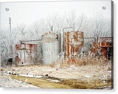 Oil Tank Farm Acrylic Print by Fred Lassmann