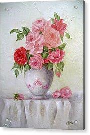 Oil Vase Rose Acrylic Print