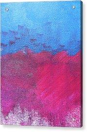 Oil Wave Acrylic Print by Lindie Racz