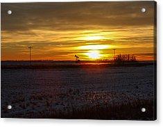 Oil Well Sunset Acrylic Print