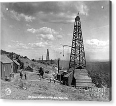 Oil Well, Wyoming, C1910 Acrylic Print