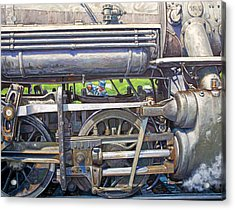 Oiling The 28 Acrylic Print by Gary Symington