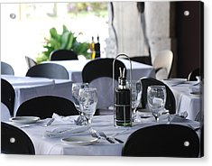 Acrylic Print featuring the photograph Oils And Glass At Dinner by Rob Hans