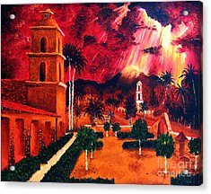 Ojai Red I Acrylic Print by Chris Haugen
