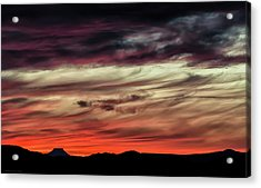 Acrylic Print featuring the photograph Ojo Caliente Sunset by Britt Runyon