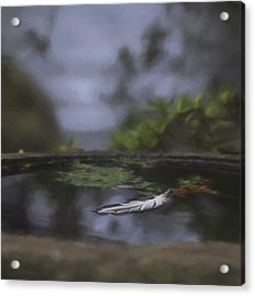 A Feeling Of Floating Weightlessly - Digitally Painted Acrylic Print by Marilyn Wilson