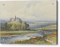 Okehampton Castle Acrylic Print by Frederick John Widgery