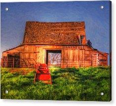 Oklahoma Barn Acrylic Print
