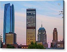 Acrylic Print featuring the photograph Oklahoma City Okc Downtown City Skyline by Gregory Ballos