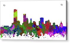 Oklahoma City Skyline Painted Acrylic Print