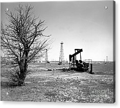 Oklahoma Oil Field Acrylic Print by Larry Keahey