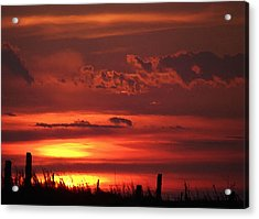 Acrylic Print featuring the digital art Oklahoma Sky At Daybreak  by Shelli Fitzpatrick