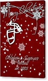 Oklahoma Sooners Christmas Card Acrylic Print