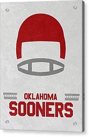 Oklahoma Sooners Vintage Football Art Acrylic Print