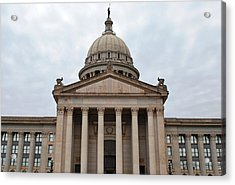 Oklahoma State Capitol - Front View Acrylic Print