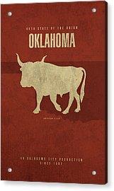 Oklahoma State Facts Minimalist Movie Poster Art Acrylic Print
