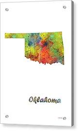 Oklahoma State Map Acrylic Print