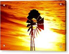 Oklahoma Sun Acrylic Print by Larry Keahey