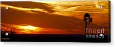 Acrylic Print featuring the photograph Oklahoma Sunset by Larry Keahey