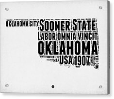 Oklahoma Word Cloud 2 Acrylic Print