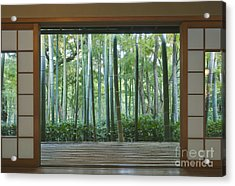 Okochi Sanso Villa Bamboo Garden Acrylic Print