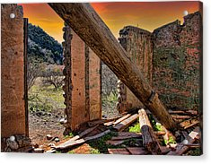 Ol' Building In Desert's Winter Warmth Acrylic Print