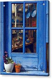Ol' Country Store Window Acrylic Print by Chrystyne Novack