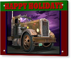 Ol' Pete Happy Holidays Acrylic Print by Stuart Swartz