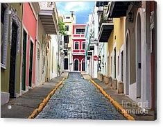 Old San Juan Alley Acrylic Print by John Rizzuto