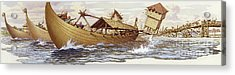 Olaf Of Norway Pulls Down The Supports Of London Bridge Acrylic Print by Pat Nicolle