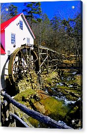 Old 1886 Mill Acrylic Print by Karen Wiles
