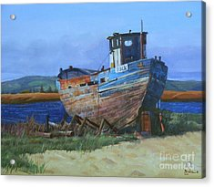 Old Abandoned Boat Acrylic Print by Noe Peralez
