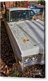 Acrylic Print featuring the photograph Old Abandoned Car Weare New Hampshire by Edward Fielding