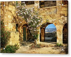 Old Abandoned Hospital In Comino Acrylic Print by Stephan Grixti