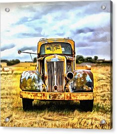 Old Abandoned Truck Acrylic Print by Edward Fielding