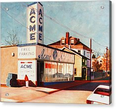 Old Acme Lambertville Nj Acrylic Print by Robert Henne