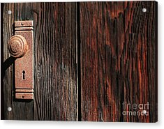 Old Amboy Grange Door  Acrylic Print