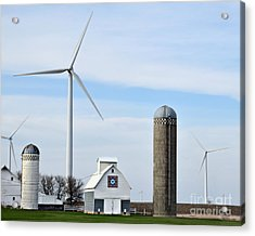 Old And New Farm Site Acrylic Print