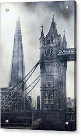 old and new London Acrylic Print by Joana Kruse