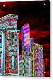 Old And New Seattle Acrylic Print by Tim Allen