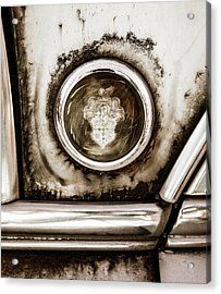 Acrylic Print featuring the photograph Old And Worn Packard Emblem by Marilyn Hunt