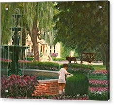 Old And Young Of Savannah Acrylic Print by Ben Kiger